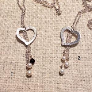 Vantel Pearls Three of Hearts Necklaces